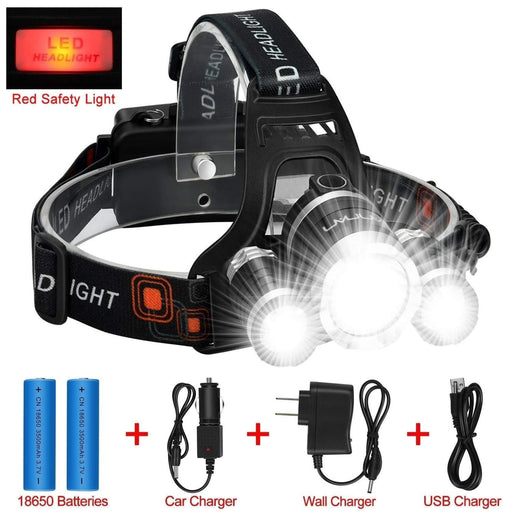 Amazon Accessories FREE GIFT! ANNAN 8000-Lumen Extreme Bright LED Headlight with Red Safety Light Electric Bicycle USA