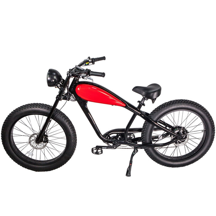 Civi Bikes Cruiser Civi Bikes Cheetah Vintage-Style Electric Fat Bike Electric Bicycle USA