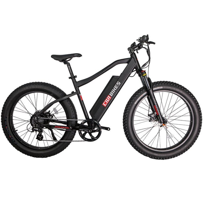 Civi Bikes Mountain Bike Matte Black Civi Bikes Predator Electric Fat Bike Electric Bicycle USA