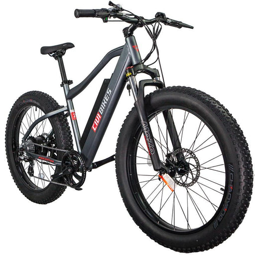 Civi Bikes Mountain Bike Matte Platinum Grey Civi Bikes Predator Electric Fat Bike Electric Bicycle USA