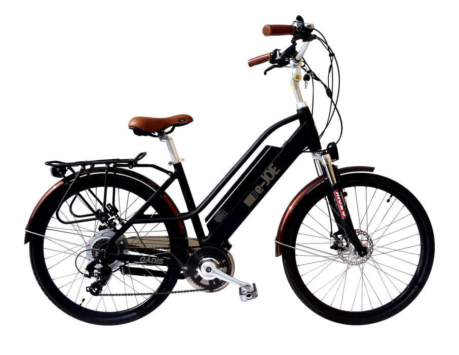 E-Joe Cruiser Black Matte E-Joe Gadis 3.0 Step-Through Cruiser Ebike Electric Bicycle USA