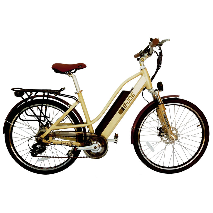E-Joe Cruiser Vanilla Beige E-Joe Gadis 3.0 Step-Through Cruiser Ebike Electric Bicycle USA