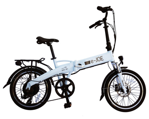 E-Joe Folding Ebike Frosty White E-Joe Epic SE Electric Folding Bike Electric Bicycle USA