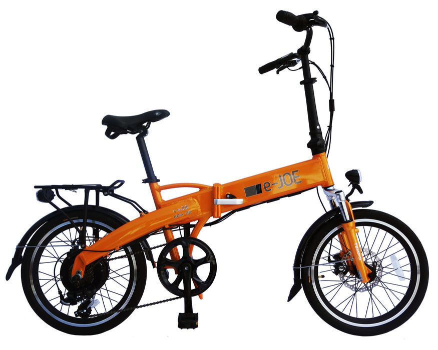 E-Joe Folding Ebike Tangerine E-Joe Epic SE Electric Folding Bike Electric Bicycle USA