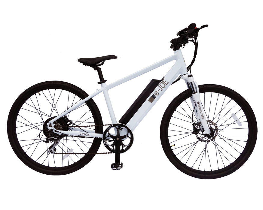 E-Joe Mountain Bike Pearl White E-Joe Koda Electric Mountain Bike Electric Bicycle USA