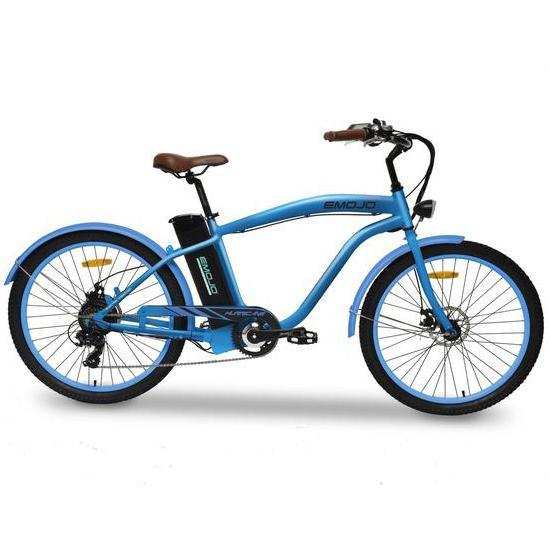 Emojo Cruiser Blue Emojo Hurricane Electric Beach Cruiser Electric Bicycle USA