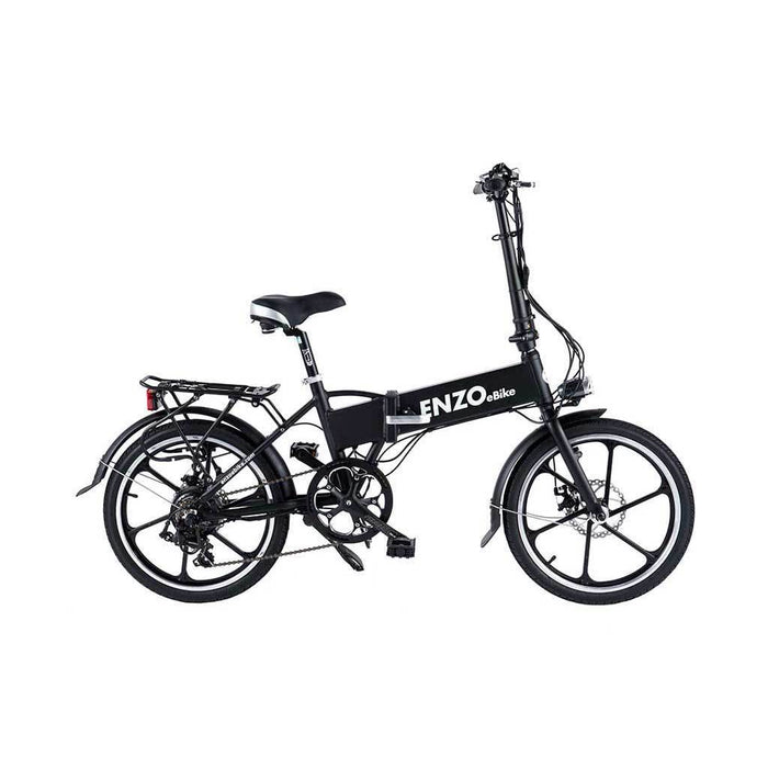 Enzo Folding Ebike Black Enzo Glow-in-the-Dark Folding Bicycle (9 color options) Electric Bicycle USA