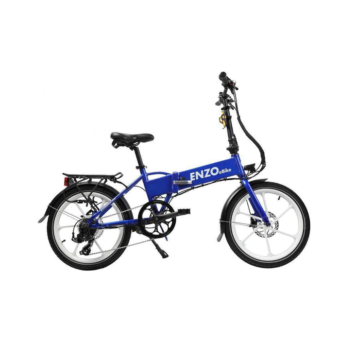 Enzo Folding Ebike Blue Enzo Glow-in-the-Dark Folding Bicycle (9 color options) Electric Bicycle USA