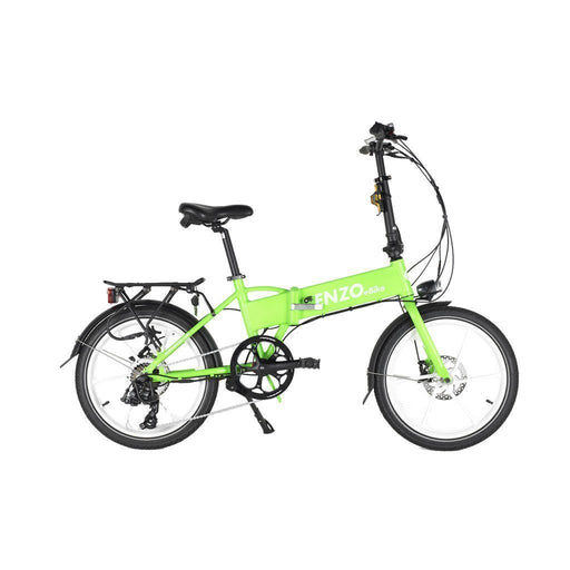 Enzo Folding Ebike Green Enzo Glow-in-the-Dark Folding Bicycle (9 color options) Electric Bicycle USA