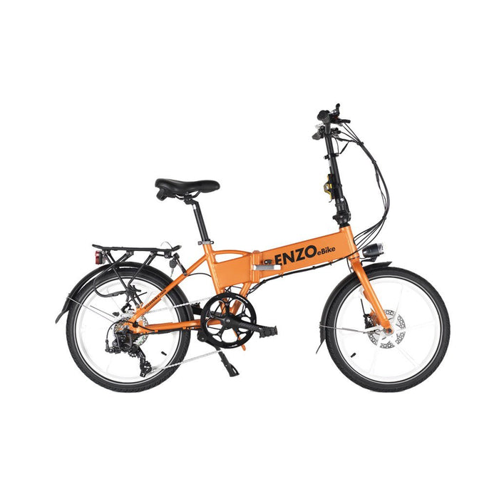 Enzo Folding Ebike Orange Enzo Glow-in-the-Dark Folding Bicycle (9 color options) Electric Bicycle USA