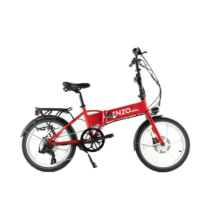 Enzo Folding Ebike Red Enzo Glow-in-the-Dark Folding Bicycle (9 color options) Electric Bicycle USA