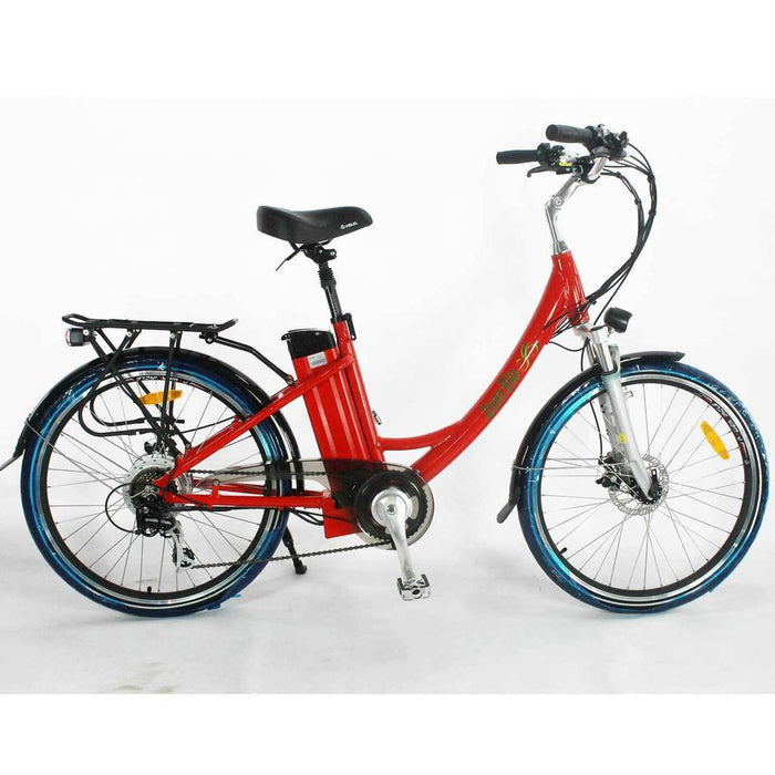 Greenbike USA Cruiser Red Greenbike GB2 Beach Cruiser Ebike Electric Bicycle USA