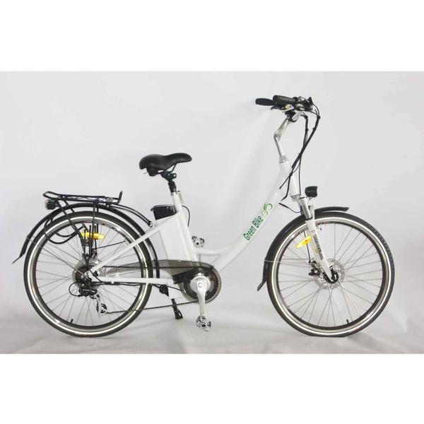 Greenbike USA Cruiser White Greenbike GB2 Beach Cruiser Ebike Electric Bicycle USA