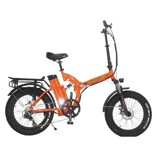 Greenbike USA Folding Bike Orange Greenbike GB750 Folding Electric Fat Bike Electric Bicycle USA