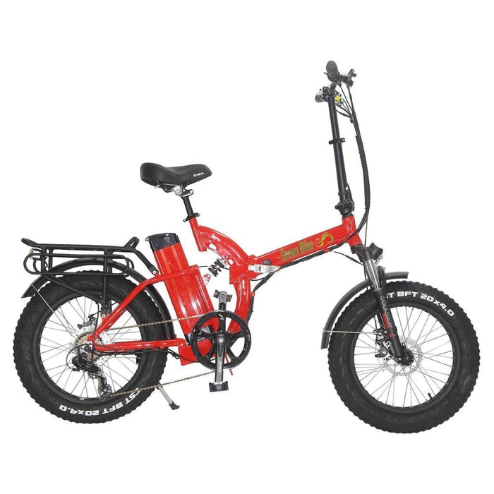 Greenbike USA Folding Bike Red Greenbike GB750 Folding Electric Fat Bike Electric Bicycle USA