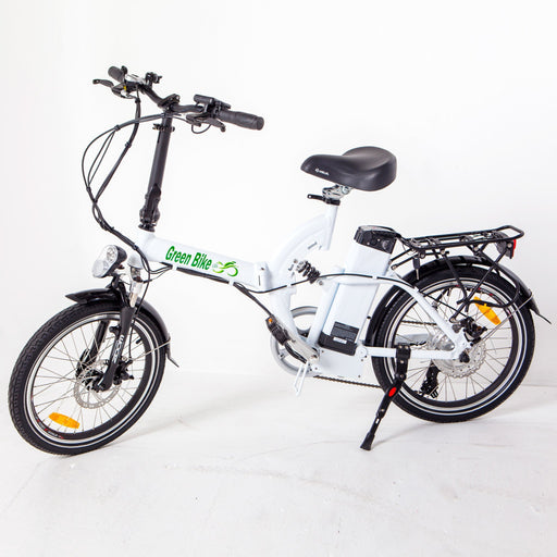 Greenbike USA Folding Ebike White Greenbike GB5 Full Suspension Electric Folding Bike Electric Bicycle USA