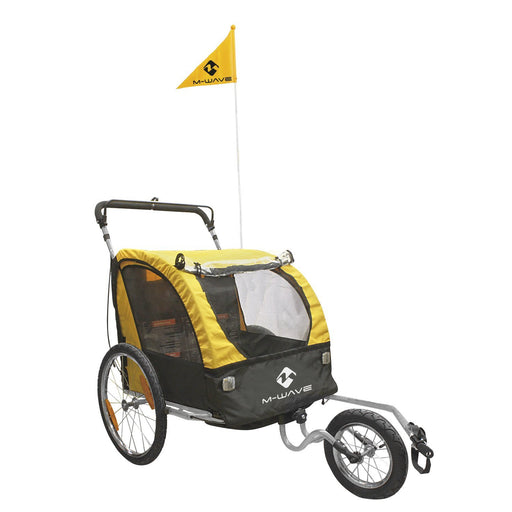 North American Cycle Trailer M-Wave 2-in-1 Jogger Bike Trailer Electric Bicycle USA