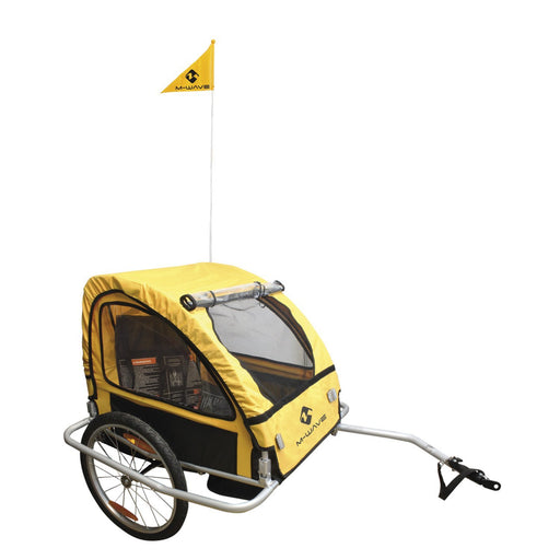 North American Cycle Trailer M-Wave Alloy Children's Bike Trailer with Suspension Electric Bicycle USA