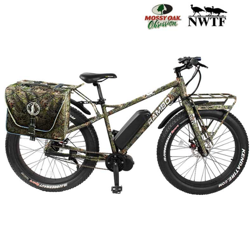 Rambo Hunting Bike Rambo R750C G3 NWTF Mossy Oak Camo Electric Hunting Bike Electric Bicycle USA