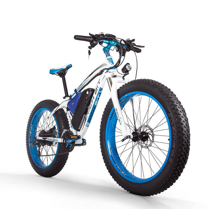 Richbit Mountain Bike Blue Richbit TOP-022 21-Speed Fat Tire Ebike Electric Bicycle USA