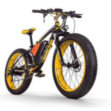 Richbit Mountain Bike Yellow Richbit TOP-022 21-Speed Fat Tire Ebike Electric Bicycle USA