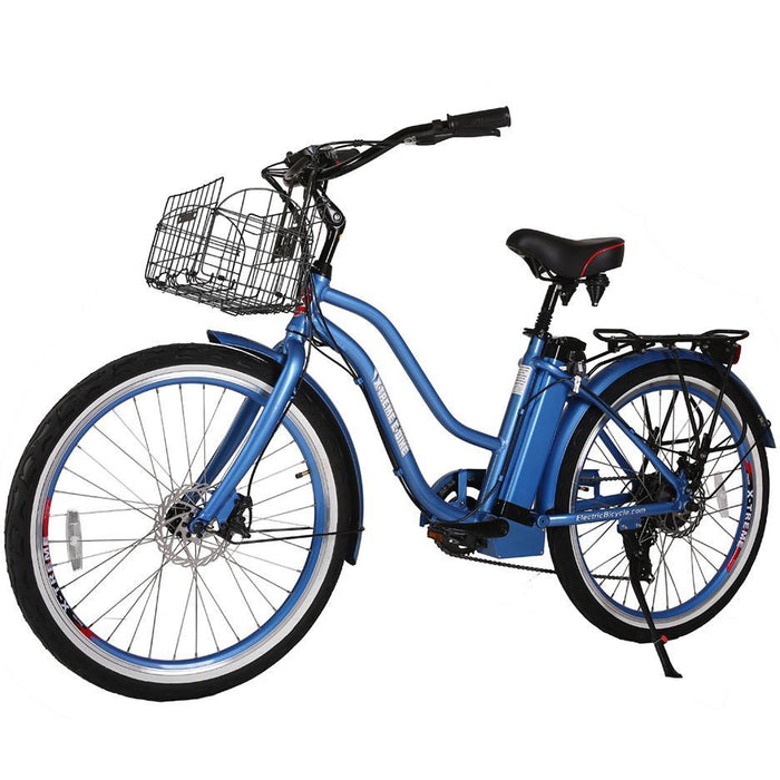 X-Treme Cruiser Baby Blue / Lifetime Extended Warranty (+$150) X-Treme Malibu Elite Beach Cruiser Electric Bike Electric Bicycle USA