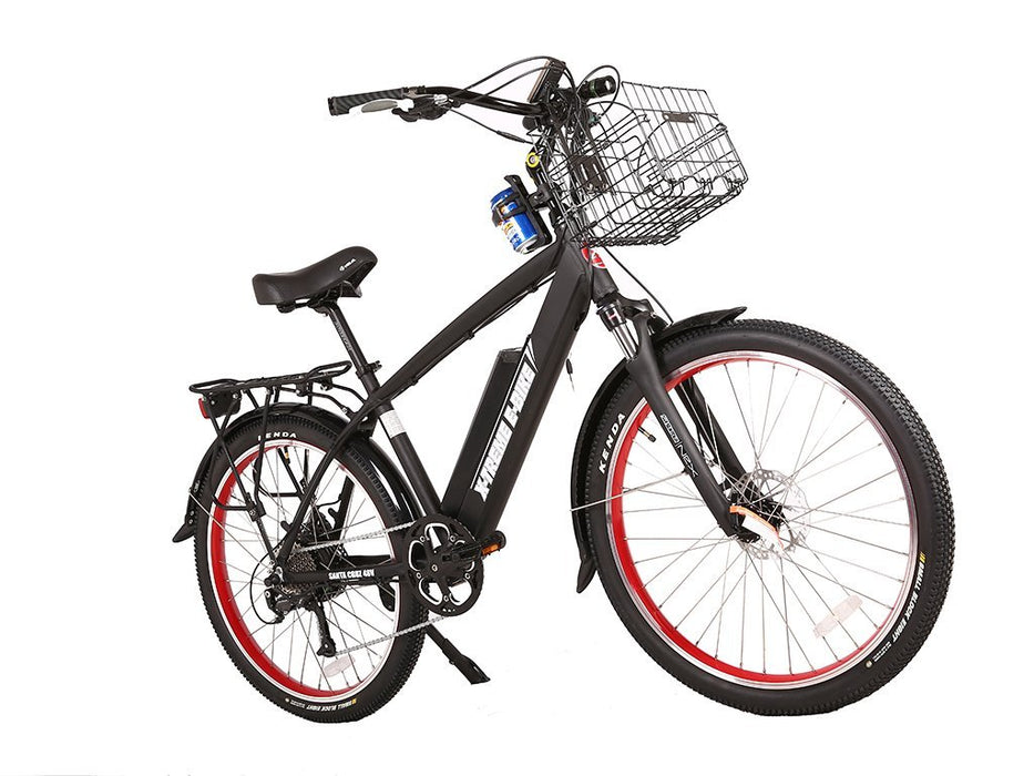 X-Treme Cruiser Black / None X-Treme Santa Beach Cruiser Electric Bike Electric Bicycle USA