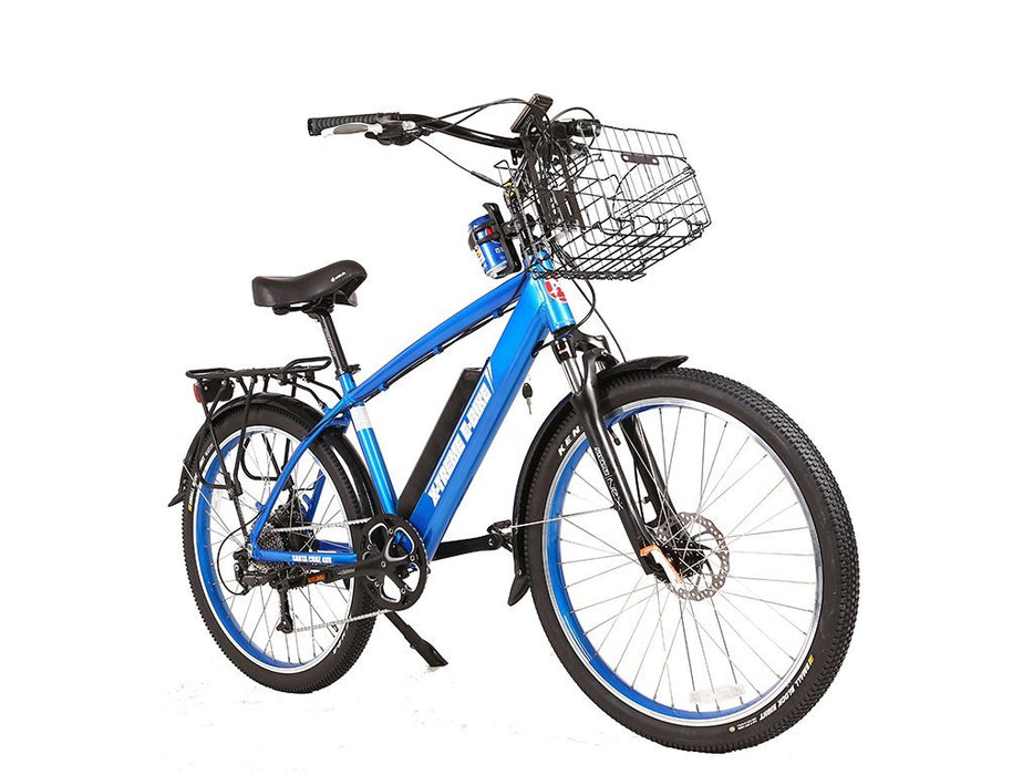 X-Treme Cruiser Metallic Blue / None X-Treme Santa Beach Cruiser Electric Bike Electric Bicycle USA