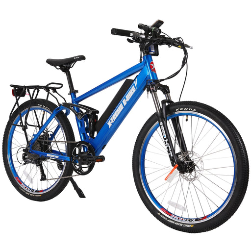 X-Treme Mountain Bike Metallic Blue / 1-Year (included) X-Treme Rubicon Electric Mountain Bike Electric Bicycle USA
