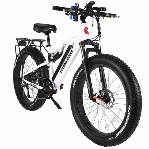 X-Treme Mountain Bike Metallic White / Lifetime Extended Warranty (+$150) X-Treme Rocky Road Fat Tire Electric Mountain Bike Electric Bicycle USA