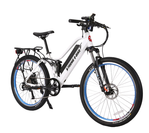 X-Treme Mountain Bike Metallic White / None X-Treme Sedona Step-through Electric Mountain Bike Electric Bicycle USA