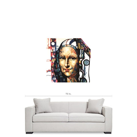Mona Lisa Abstract Canvas