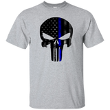 Punished Skull (Blue Line Flag)