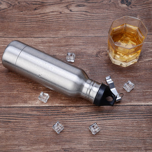 Stainless Steel Beer Thermal Insulator with Beer Bottle Opener