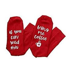 Novelty Socks - If you can read this bring me coffee