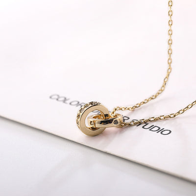 Duo Gold Plated Zirco Necklace