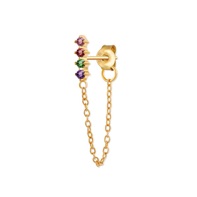 Rainbow Zirco Drop Earring / Single
