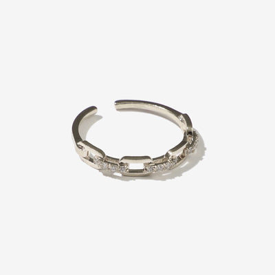 Daina Pin Gold Plated Open Adjustable Ring