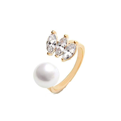 Maelys Faux Pearl Chic Open Ring