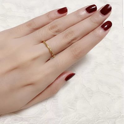 Quinn Bamboo Gold Plated Ring