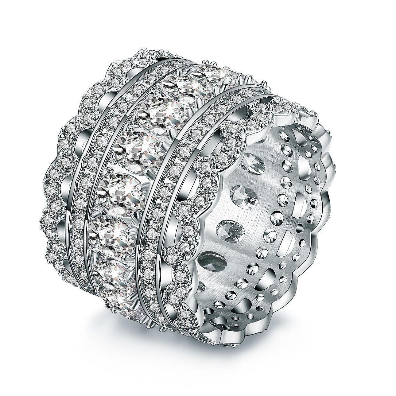 LACE PLATINUM STYLE BAND RING