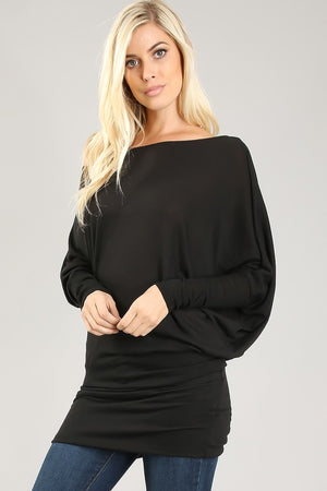 Plus Off Shoulder Tunic Top