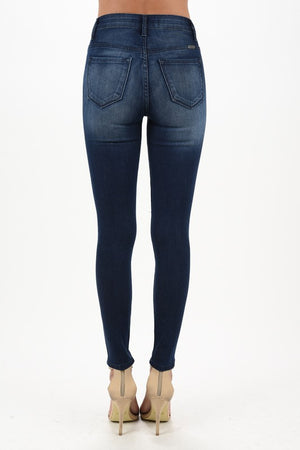 KanCan Destructed Dark Wash Ankle Jean