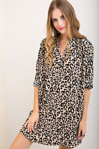 Wild About You Leopard Shift Dress