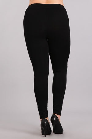 Plus Moto Legging with Zipper Detail