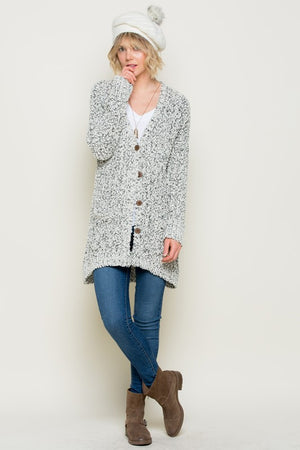 Super Soft Knit Button Up Sweater Cardigan