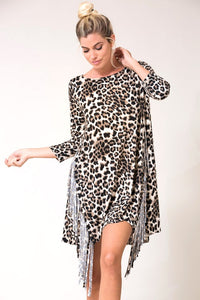 Leopard Fringe Dress