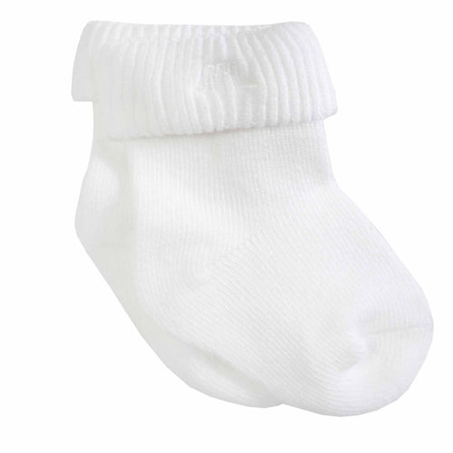 Baby Socks Unisex in White - Chateau de Sable
