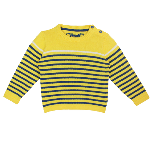 Chausey Striped Cotton Sweater