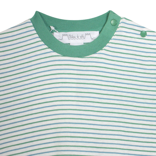 Sable Striped Crew Neck